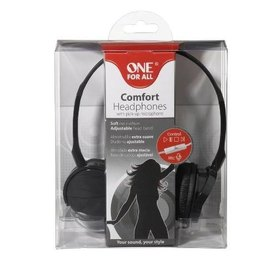 SV 5352 COMFORT ON EAR BLACK HEADPHONES WITH PICK-UP MICROPHONE